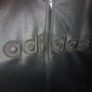 adidas Jackets & Coats - Men's Adidas  Zip Up Black Jacket Logo on Front